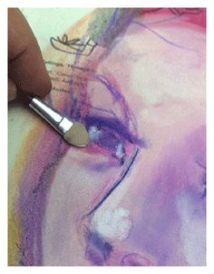 Blend pastels like paint! How to use PanPastels mixed media art supples, art by Jane Davenport.