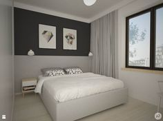 Sypialnia styl Skandynawski - zdjęcie od A1Studio - Sypialnia - Styl Skandynawski - A1Studio