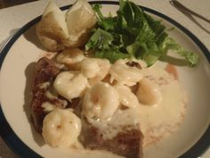 Surf and Turf or Reef and Beef. It is as good as you get at the local pub.