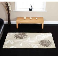Thistle Oatmeal Floral Rugs By Ultimate Rug 1