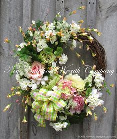 Duxbury Spring Cottage Wreath  ~New England Wreath Company Designer Original~