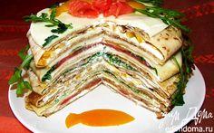 """Блинный пирог """"Щедрая масленица""""   Кулинарные рецепты от «Едим дома!»"""