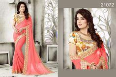Bollywood Indian Pakistani Designer Saree Partywear Ethnic Dress Wedding Sari #TanishiFashion #DesignerSaree
