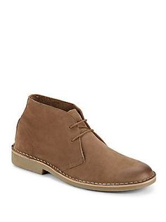 Steve Madden Solid Leather Boots - Stone - Size