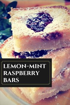 Serve up summery flavor with these lemon-mint raspberry bars.