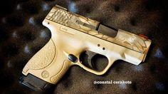 Nomad Kryptek and Desert Sand M&P Shield M&p 9mm, 9mm Pistol, Smith And Wesson Shield, Smith Wesson, Pistol For Women, M&p Shield 9mm, Camo Guns, Lethal Weapon, Gun Art