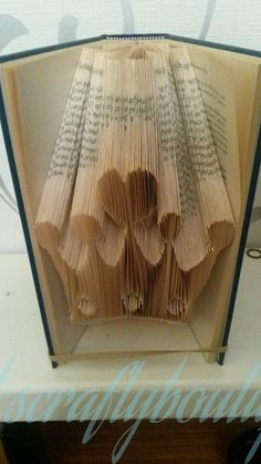 Crown book folding pattern. 277 folds by VicksCraftyBoutique