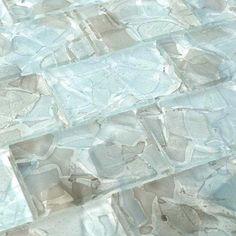 Glass Tile Backsplash, Glass Mosaic Tiles, Cement Tiles, Modern Mosaic Tile, Splashback Tiles, Tile Countertops, Mosaic Mirrors, Backsplash Ideas, Mosaic Wall