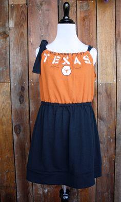University of Texas Longhorns UT Game Day Dress   by jillbenimble