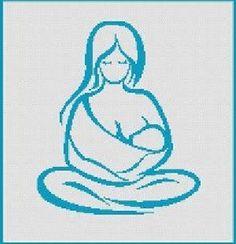 0 point de croix mere allaitant - cross stitch mother breast feeding