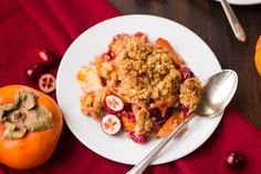 Persimmon Cranberry Crisp - I've adapted my recipe from this one. Have been having so much fun baking with persimmons this year :)