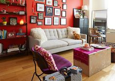 Eclectic and oh so colorful.