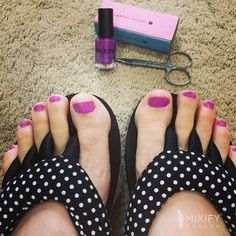 perfect solution for a rainy day  #mixifypolish #pedicure #beauty #nailpolish #fashion #color #handmade #beautiful #diy #craft #gift #smile #arttherapy #love #project #instadaily #colorful #instaphoto #style #nailart #prep #preppy #inspiration #couture #handcrafted #creative #prepster #colortherapy #purple #rainydayactivities