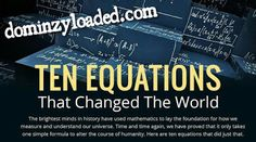 DominzyLoaded Tech : 10 Equations That Changed The World Euclid Geometry, Albert Einstein Theories, Albert Einstien, Newtons Laws, Theory Of Relativity, Isaac Newton, Explain Why, Change The World, Mathematics