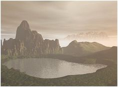 Digital Illustrations by Catja Foggy Mountains, Foggy Morning, Digital Illustration, Monument Valley, Environment, Illustrations, Gallery, Check, Travel