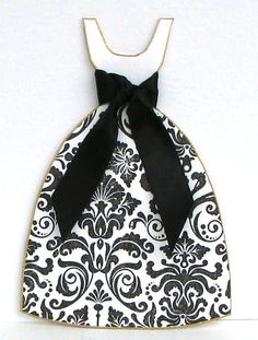 black dress ... or a dress of any color or print with matching bow