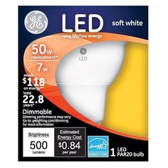 Shop GE Equivalent) Medium Base LED Flood Light Bulb at Lowe's Canada. Find our selection of light bulbs at the lowest price guaranteed with price match. Led Shop Lights, Led Flood Lights, White Led Lights, White Light, Light Bulb Store, Indoor Track, Buy Lamps, General Electric