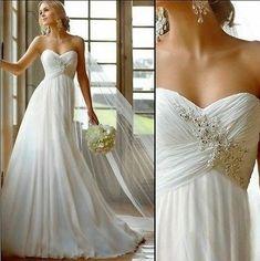 robe de mariée fluide sous poitrine