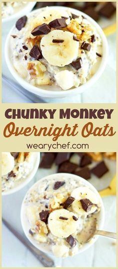 This overnight oats recipe with dark chocolate and banana makes for a deliciously satisfying and easy breakfast!