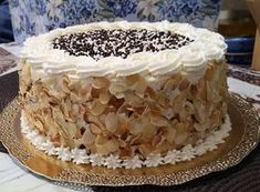 Cake Piping, Vanilla Cake, Tiramisu, Pie, Ethnic Recipes, Desserts, Food, Decorating Cakes, Torte