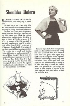 DIY Vintage Bolero - FREE Sewing Pattern and Tutorial