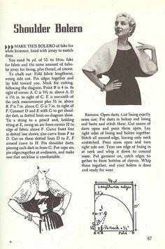 DIY Vintage Bolero - FREE Sewing Pattern and Tutorial