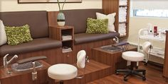 Spa pedicure rooms   Beauty Spa boasts a pedicure bar, 2 manicure stations, 3 facial rooms ...