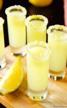 lemon-drop-shots Lemon Drop Shots Sweet and oh so tart shots full. Informations About Lemon Drop S Lemon Drop Shots, Lemon Drop Martini, Lemon Drop Drink, Lemon Drop Cocktail, Orange Crush Cocktail, Liquor Drinks, Cocktail Drinks, Beverages, Shots Drinks