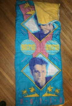 Vtg 90s Beverly Hills 90210 Sleeping Bag Luke Perry Dylan Jason Priestly Brandon | eBay