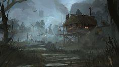 ArtStation - swamp , Mateusz Michalski