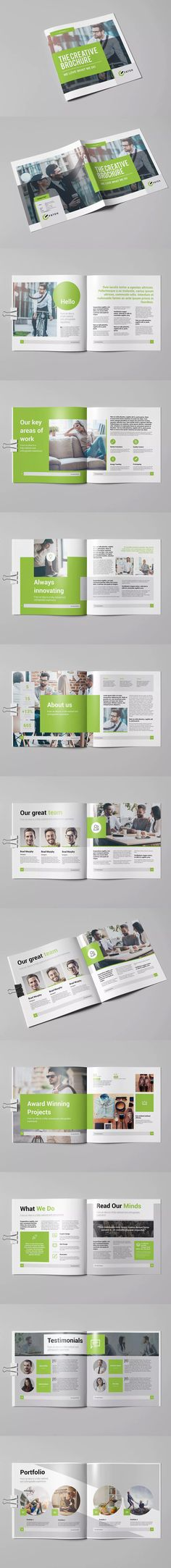 The Creative Square Brochure Template InDesign INDD #unlimiteddownloads