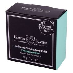 Edwin Jagger Traditional Shaving Soap Refill Cooling Menthol 65g - Shaving Soap - Shaving Prep