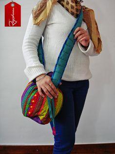 Pull String Fashionable Sling Bag - Multicolor Patchwork - #ShoulderBag Drawstring Bag #Etsy etsy.me/1u9gfHt