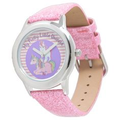 My Pretty Little Unicorn Wristwatch | Kids Little Unicorn, Unicorn Kids, Leona Lewis, Small Faces, Telling Time, Christmas Gifts For Kids, Pink Glitter, Pretty Little, Quartz