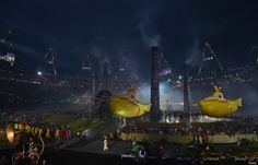Opening Ceremony 2012: Inflatable Yellow Submarines