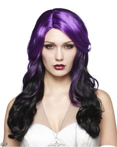 wigs+purple+hair | Black And Purple Curly Hair 2015-2016