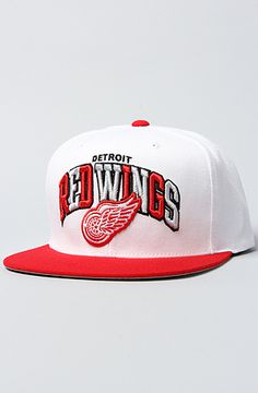 890d351002fdb The Detroit Red Wings Arch Tri Pop 2T Snapback White   Red by Mitchell    Ness -  26 + 20% off with rep code SHANE20