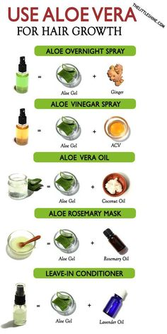 WAYS TO USE ALOE VERA FOR HAIR GROWTH