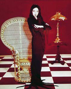 Carolyn Jones as Morticia Addams, 1960s