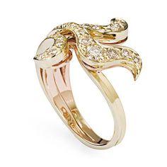 Anel de ouro amarelo 18K com diamantes cognac http://m.hstern.com.br/joia/anel/iris/A2B197768