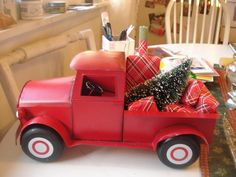 Curtains In My Tree: New Red Truck