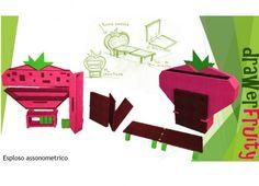 Formabilio - Il progetto è stato ideato per i bambini. Si presenta a forma di fragola, ed ha vari modi d'uso: cassettiera per riporre giochi o oltro, libreria, o ancora come lavagna ma la cosa interessante è che può trasformarsi in un letto. E' facilmente trasportabile grazie alle sue rotelline , è realizzato in legno massello, si scompone in vari pezzi ed il montaggio è facilitato grazie ai pezzi ad incastro. Lo si può mettere in qualsiasi stanza ed è ideato anche per quei luoghi dove si ha…