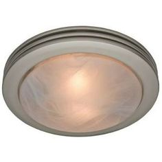 Saturn Decorative 80 CFM Ceiling Exhaust Bath Fan with Brushed Nickel Rings and Frosted Glass-90053 at The Home Depot