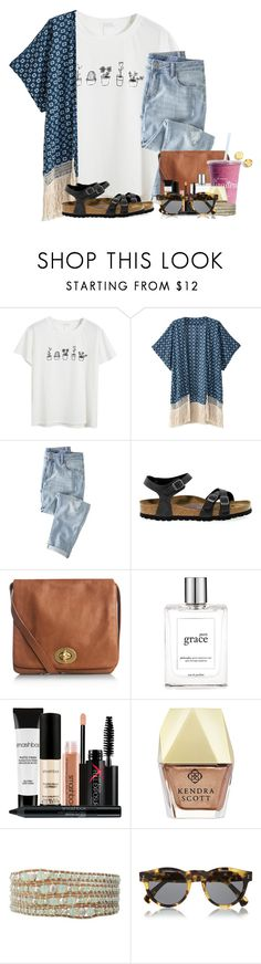 """""""Going to go look at prom dresses today🍃"""" by flroasburn ❤ liked on Polyvore featuring Chicnova Fashion, Wrap, Birkenstock, Jigsaw, philosophy, Smashbox, Kendra Scott, Chan Luu, Illesteva and Kenneth Cole"""