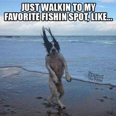 Just Walkin To My Fishin Spot