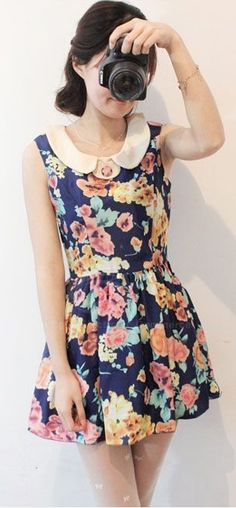 Floral Collared Summer Dress