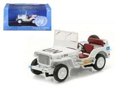 1944 Jeep Willys UN United Nations White 1/43 Diecast Model Car by Greenlight - Brand new 1:43 scale diecast car model of 1944 Jeep Willys UN United Nations White die cast car model by Greenlight. Rubber tires. Brand new box. Limited Edition. Detailed interior, exterior. Dimensions approximately L-4.5 inches long.-Weight: 1. Height: 5. Width: 9. Box Weight: 1. Box Width: 9. Box Height: 5. Box Depth: 5