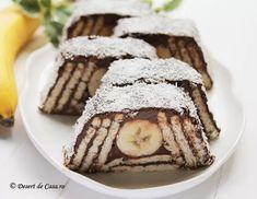 Prajitura cu biscuiti si banane - Desert De Casa - Maria Popa