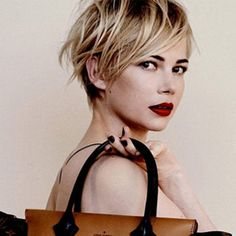 Michelle Williams short textured hair.