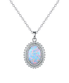 Loving this Opal & Cubic Zirconia Circular Pendant Necklace on #zulily! #zulilyfinds